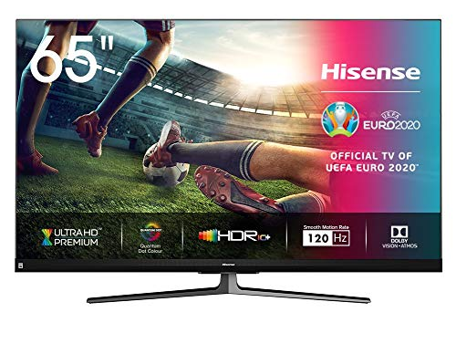 Hisense 65U8QF 164cm (65 Zoll) Fernseher (4K Ultra Premium HD,Quantum Dot, HDR10+, Dolby Vision&Atmos, WCG, Full Array Local Dimming, 120Hz Panel, USB-Recording, JBL sound) [Modelljahr 2020]