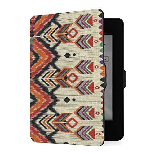 Hülle für Kindle Paperwhite 1/2/3 Generation E-Reader Hülle Ethnische traditionelle geometrische Pu Lederhülle mit Auto Wake/Sleep Kindle Paperwhite Hülle