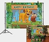 Daniu Dessin animé Roi Lion Simba Thème Toile de Fond Photographie Toile de Fond Jungle Safari Fond pour Fête D'anniversaire Enfants Enfants Fête Studio Photo Toile de Fond Les Accessoires 210cmx150cm