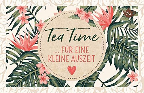 4er-Packung: Tee-Postkarte