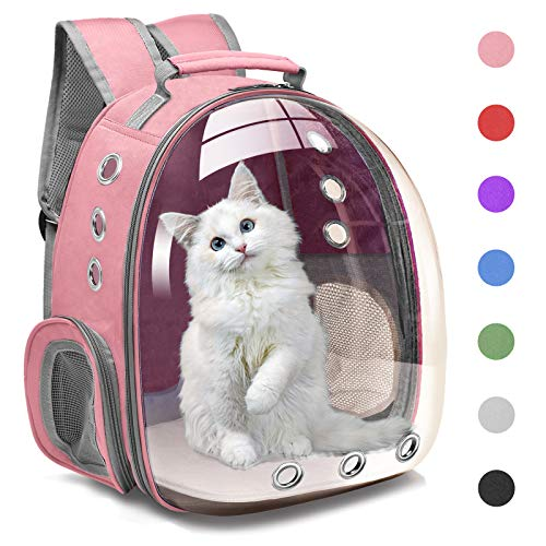 Henkelion Cat Backpack Carrier Bubble Carrying Bag, Small Dog Backpack Carrier for Small Medium Dogs...