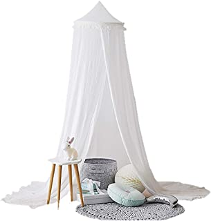 Mosquito Net - 240cm Kids Baby Room Bed Dome Curtain Canopy Chiffon Tassel Hung Mosquito Net Decor Useful - Hammock Pack Porch Attach Backyard Curtain Crib Rainfly Camping Holder Yellow Do