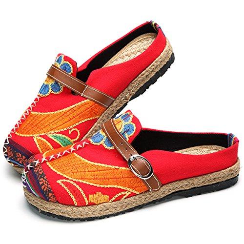 gracosy Alpargatas Zapatos de Mujer Caminando Zapatillas Plano de holgazán Sandalias de Verano de...