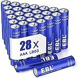 EBL 28 X Pilas AAA de 1,5V Alcalinas LR03 Gran Durabilidad & Seguridad para Juguetes Báscula Reloj (NO Recargables)