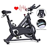 MaxKare Magnetic Exercise Bikes Stationary Belt Drive Indoor Cycling Bike with High Weight...