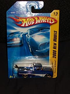Hot Wheels 2008 013 New Models Custom '62 Chevy Pickup Blue with Surfboard in Bed 1:64 Scale by Hot Wheels