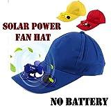 SR Global Outdoor Solar Sun Power Hat Cap Cooling Cool Fan for Golf