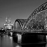 1art1 Köln - Hohenzollernbrücke Und Kölner Dom Bei Nacht