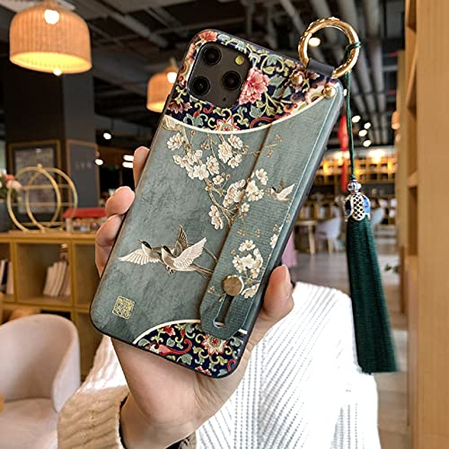 Estuche para teléfono en Relieve 3D para iPhone 11 12 Pro MAX XS MAX XR 8 7 6 Plus X Estuches Traseros Suaves Correa de muñeca Cubierta con Borla para Samsung, 6, para iPhone 6 6s