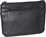 Buxton Womens Leather Id Coin Card Case Wallet (Black-RFID Protected)