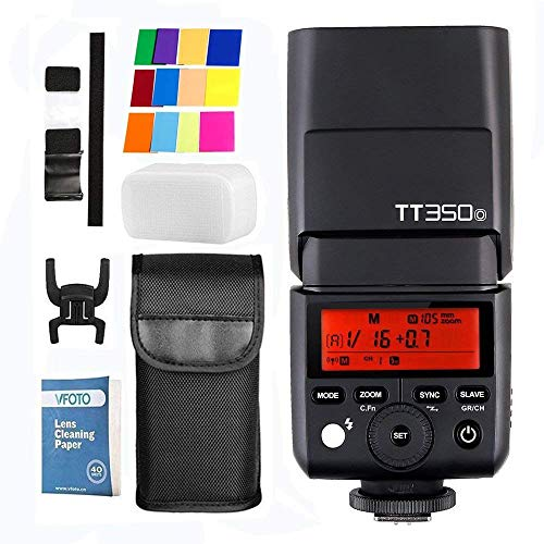 Godox TT350o Flash Mini Thinklite TTL Haute Vitesse 2.4 G HSS 1/8000s GN36 pour Olympus E-M10II/E-M5II/E-M1/E-PL8/E-PL7/E-PL6/E-PL5/E-PL3/PEN-F,Panasonic DMC-CX85/DMC-G7/DMC-GF1/DMC-LX100/DMC-G85