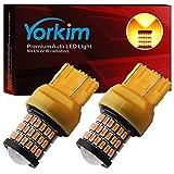 Yorkim 7440 Led Bulb Amber 7443 Led Bulb Amber, Ultra Bright T20 Led 7440a Led Bulb W21W Led Bulb Amber for...