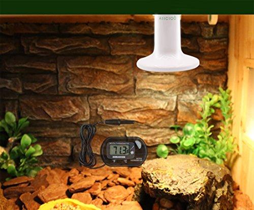 Reptile Heat Lamp Bulb -60W Ceramic Heat Emitter No Harm No Light Infrared Heater Lamp for Chicken Coop Lizard Aquarium Snake Outside Dogs Brooder 110V,White
