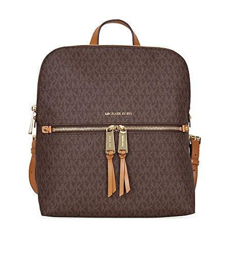 Michael Kors Rhea Medium Backpack - Signature Brown - 30H6GEZB2V-200