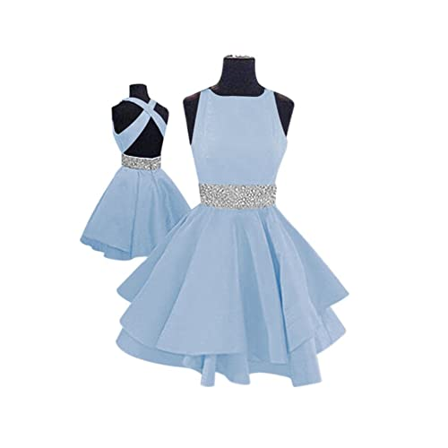 Simple Light Blue Prom Dress: Amazon.com
