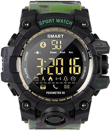Reloj deportivo al aire libre de los hombres s camuflaje reloj digital 50 M impermeable Bluetooth Fitness Tracker con contador de pasos calorías cronómetro llamada SMS recordatorio