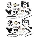 Amuzocity Kit de Conversión de Bicicleta Eléctrica de 2 Juegos 250 W 24 V Controlador DIY Convertidor de Velocidad única