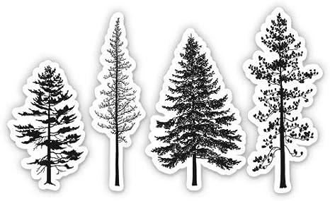 GT Graphics Spruce Trees Vinyl Sticker Waterproof Decal