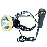 Eornmor LED Headlamp High Power Waterproof Rechargeable Headlight T6 Flashlight 15000mah 35W for Mining,Camping, Hiking, Fishing,Hunting (headlamp)