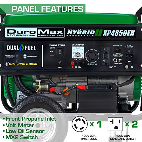 DuroMax XP4850EH Generator-4850 Watt Gas or Propane Powered-Electric Start-Camping & RV Ready, 50...