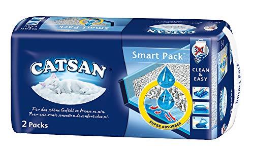 Catsan Smart Pack Katzen Streu - 1 Packung mit 2 Packs 8L (2x 4L)