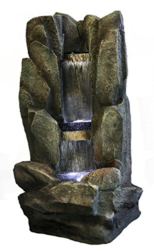Major-Q 73002 38'' H Decoration Fengshui Rock Like Waterfall Fountain with LED Light, 38 Inches Tall
