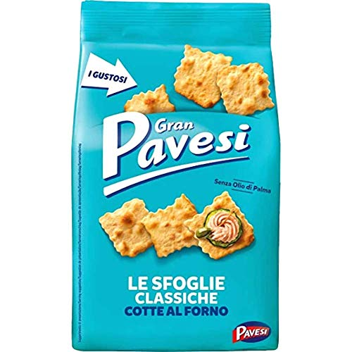 From Italy Barilla Gran Pavesi Sfoglie Crackers Gran Pavesi Le Sfoglie Classiche Cotte al Forno 190g Snack