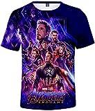 PANOZON Camiseta Niños Impresión de Vengadores Endgame para Fanes de Superhéroes T-Shirts Unisex (XXS, 1Vengadores-5)