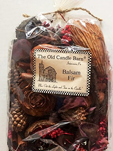 Old Candle Barn Balsam Fir Potpourri Large Bag - Perfect Winter or Christmas Decoration or Bowl Filler - Well Scented
