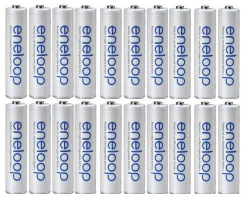 20 packs Sanyo Eneloop AAA NiMH Rechargeable Batteries in Bulk Packaging