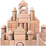 Migargle Wooden Building Blocks Set for Kids - Stacker Stacking Game Construction Toys Set Preschool Colorful Learning Educational Toys - Geometry Wooden Blocks for Boys & Girls
