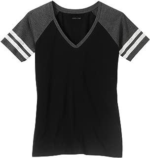 Ladies Distressed Retro V-Neck T-Shirts, Sizes: XS-4XL