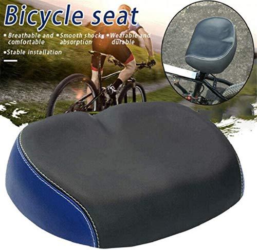 NXowzf Extra Comfort Wide Big Bum Bike Bicycle Gel Cruiser Sporty Soft Pad Saddle Seat (Blue)