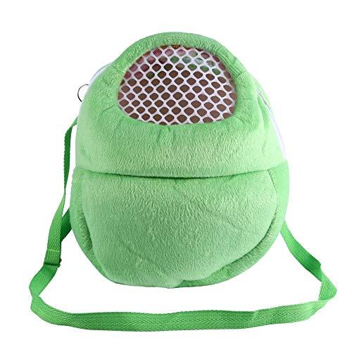 Vobor Transportbox Atmungsaktive Tasche Hamster Hase Frettchen Reise Schlaf Hängende Betttasche (Grün)