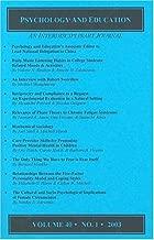 Psychology and Education - An Interdisciplinary Journal