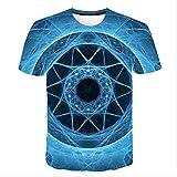 XSHUHANP Unisex Camiseta 3D con Estampado Camiseta Psicodélica con Estampado 3D para Hombres Y Mujeres, Camiseta De Verano con Graffiti Y Galaxia, Camisetas Casuales Divertidas De Manga Corta Haraj