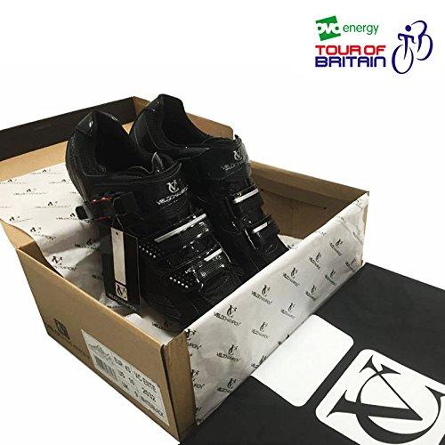VeloChampion Elite Rennradschuh (Paar) Black/Silver 41 Road Cycling Shoes - 3