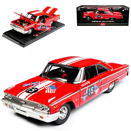 Sun Star Ford Galaxie 500 XL Racing Coupe Hard Top 1963 Rot 1/18 Modell Auto