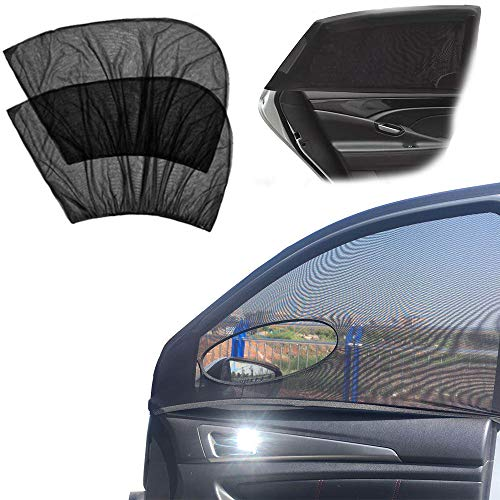 4 Pack Car Side Window Sun Shade, Car Sun Shade Blocking Car Mosquito Net for Baby - Car Side Rear Sun Shade with UV Rays Protection, Fit Most of Vehicle - 2 Pack for Front Window and 2 Pack for Back