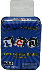 Left Center Right Dice Game – Blue Tin