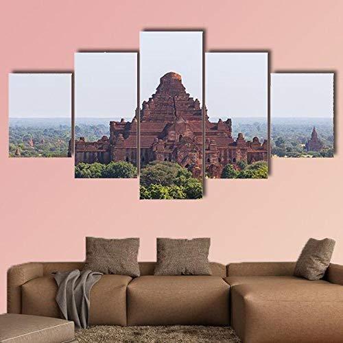 Cuadro Moderno Lienzo Decoración Templo Dhammayangyi Myanmar Cuadro de Pared impresión artística fotografía Imagen gráfica Pintura Estirado Enmarcado