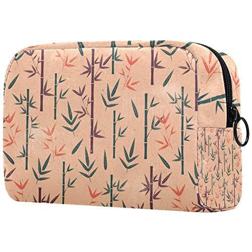 Reise-Kulturbeutel, einfache Organisation für Männer oder Frauen, Vintage, Bambus, Grün, Lila, Orange