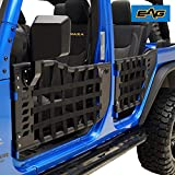 EAG Matrix Tubular Door with Side View Mirror Fit for 07-18 Jeep Wrangler JK 4 Door Only