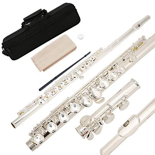 Instrumento musical C Key 16 Key Flauta ligera para adultos con maleta