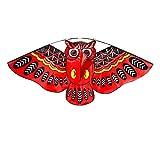 Kinder-Drachen Flugspielzeug Eule Kinderdrachen Flugdrachen Drachen Einleiner für Anfänger Erwachsene Kinder ab 3 Jahren (Rot)