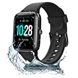 JONVOH <span class='highlight'>Smart</span> <span class='highlight'>Watch</span> Fitness Tracker SYNCLIFE 205L - Compatible with Apple iPhone iOS Android Samsung - Heart Rate Monitor - App Text Call Notification - Large 1.3 inch <span class='highlight'>touch</span> <span class='highlight'>Screen</span> - Black