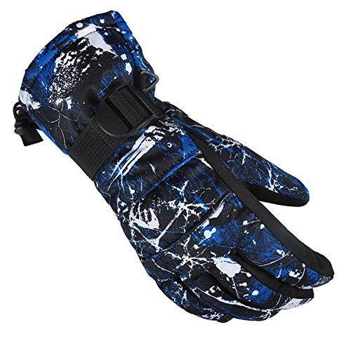 DOEUS Skihandschuhe Skifahren Handschuhe f¨¹r Herren Outdoor Handschuhe Sportliche Handschuhe Winter Wasserdicht, Warme, Atmungsaktive und Modische (L)