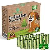 SanterLabs Pets 270 Bolsas Biodegradables Excrementos Residuos perros mascotas, 18 rollos con dispensador extrafuerte a prueba de fugas respetuoso con el medio ambiente con aditivos EPI 22 x 32 cm