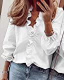 JBZP Talla Grande 5XL Blusa Camisa Mujeres Nuevas Elegantes Streetwear Mujeres Tops y Blusas Ladies Top tee tee Blanco Camisa Larga/de Manga Corta