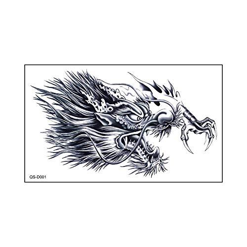 Etiqueta engomada del tatuaje a prueba de agua Grifo en el pecho Brazo de flor grande Etiqueta engomada del tatuaje fresco pequeño 31.5X19CM